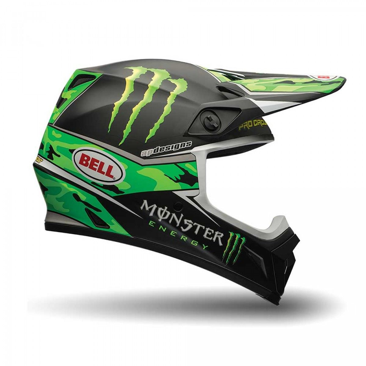 bell crosshelm mx 9 monster energy pro circuit replica. Black Bedroom Furniture Sets. Home Design Ideas