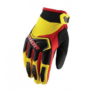 Thor Kinder Handschoenen Spectrum Yellow/Black/Red