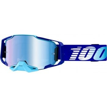 100% Armega Crossbril Royal Blue-Blue Mirror