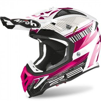 Airoh Aviator 2.3 AMS Crosshelm Novak Chrome Pink
