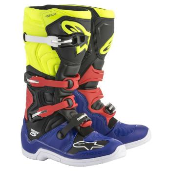 Alpinestars Crosslaarzen Tech 5 Blue/Black/Fluor Yellow/Red