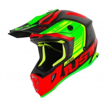 Just1 J38 Crosshelm Blade Red/Lime/Black Matt
