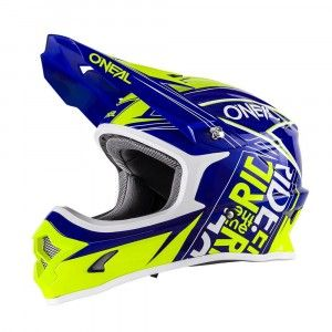 O'Neal Crosshelm 3 Series Fuel Blue/Hi-Viz