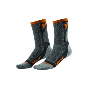Thor Crosssokken Dual Sport Gray/Orange