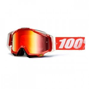 100% Crossbril Racecraft Fire Red/Mirror Red