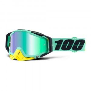 100% Crossbril Racecraft Kloog/Mirror Green