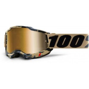 100% Crossbril Accuri 2 Tarmac/Mirror True Gold