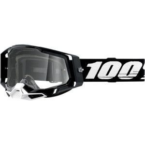 100% Crossbril Racecraft 2 Black Clear