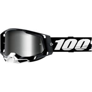 100% Crossbril Racecraft 2 Black Mirror Silver