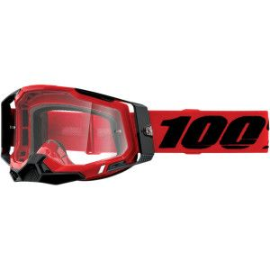100% Crossbril Racecraft 2 Red Clear