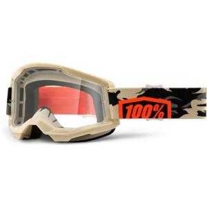 100% Crossbril Strata 2 Kombat/Clear