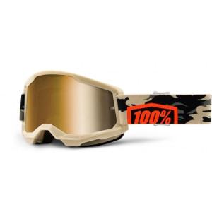 100% Crossbril Strata 2 Kombat/Mirror Gold