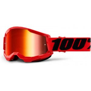 100% Crossbril Strata 2 Red/Mirror Red