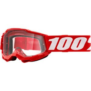 100% Kinder Crossbril Accuri 2 Youth Neon Red Clear