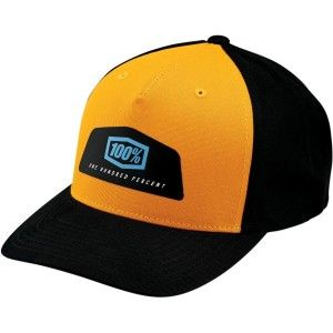 100% Pet Hats Guild Snapback Black/Yellow