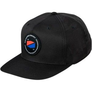 100% Pet Hats Jefferson Snapback Black
