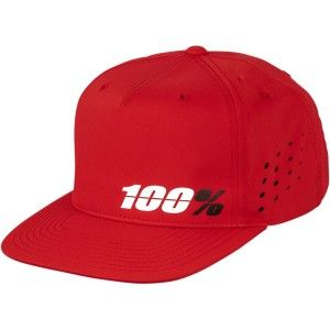100% Pet Hats Ozone Snapback Red