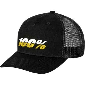 100% Trucker Pet Hats League Xfit Black