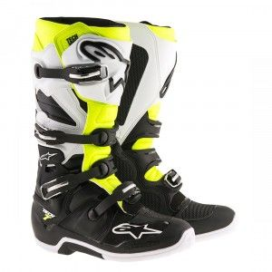 Alpinestars Crosslaarzen Tech 7 Black/White/Fluor Yellow
