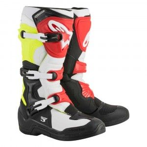 Alpinestars Crosslaarzen Tech 3 Black/White/Yellow/Red