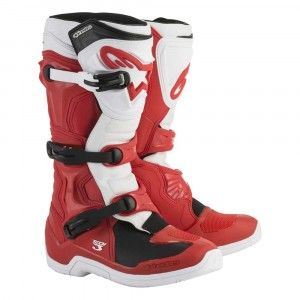 Alpinestars Crosslaarzen Tech 3 Red/White