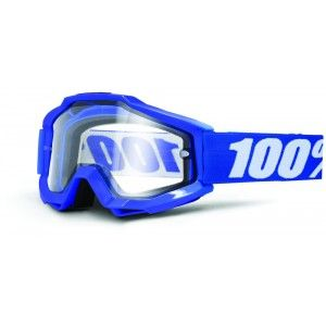 100% Enduro Crossbril Accuri Reflex Blue/Clear (dubbel-laags lens)
