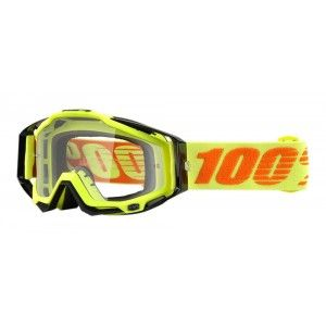 100% Crossbril Racecraft Attack Yellow/Clear