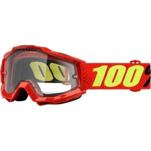 100% Enduro Crossbril Accuri Saarinen/Clear (dubbel-laags lens)