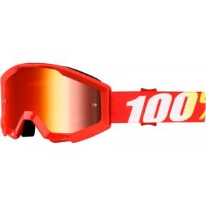 100% Kinder Crossbril Strata Youth Furnace/Mirror Red