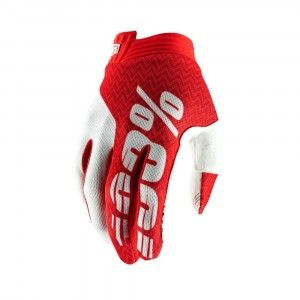 100% Crosshandschoenen Itrack Red/White