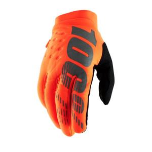 100% Handschoenen Brisker Fluo Orange/Black