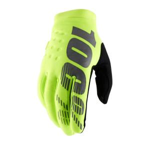 100% Kinder Handschoenen Brisker Fluo Yellow/Black