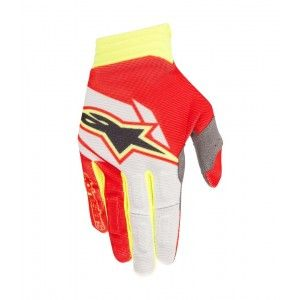 Alpinestars Handschoenen Aviator Red/White/Fluo Yellow