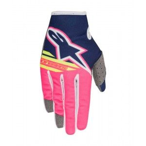 Alpinestars Handschoenen Radar Flight Dark Blue/Fluo Pink/White