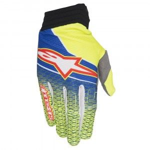 Alpinestars Handschoenen Aviator Blue/Fluor Yellow/Red