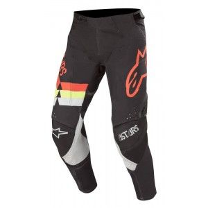 Alpinestars Techstar Venom Crossbroek Black/Red Fluo/Yellow Fluo