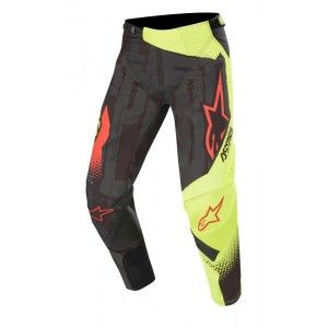 Alpinestars Techstar Factory Crossbroek Black/Yellow Fluo/Red Fluo