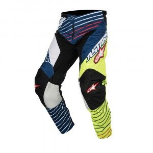 Alpinestars Broek Racer Braap Fluor Yellow/White/Dark Blue-30