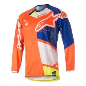 Alpinestars Crossshirt Techstar Factory Fluor Orange/Blue/White/Fluor Yellow