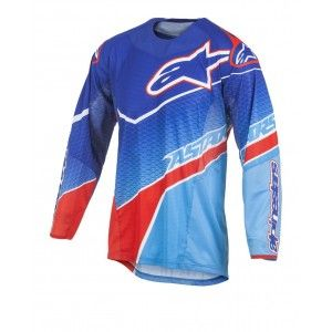 Alpinestars Shirt Techstar Venom Blue/Cyan/Red-L