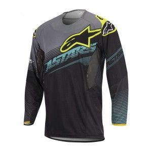 Alpinestars Shirt Techstar Factory Black/Teal/Fluor Yellow
