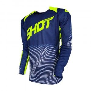 Shot Crossshirt Aerolite Optica Blue/Neon Yellow