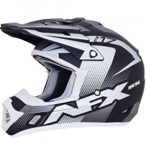 AFX Crosshelm FX-17 Frost Grey/Black/White