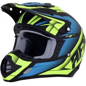 AFX Crosshelm FX-17 Matte Black/Green/Blue