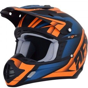 AFX Crosshelm FX-17 Matte Black/Orange/Blue