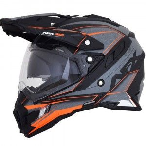 AFX FX-41DS Crosshelm/Endurohelm Frost Grey/Neon Orange