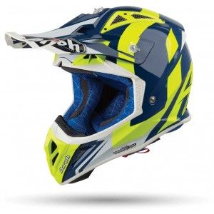 Airoh Aviator 2.3 AMS Crosshelm Bigger Blue Gloss