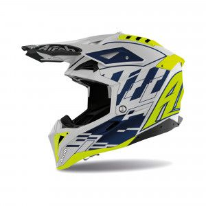 Airoh Aviator 3 Crosshelm Rampage Blue/Fluor Yellow