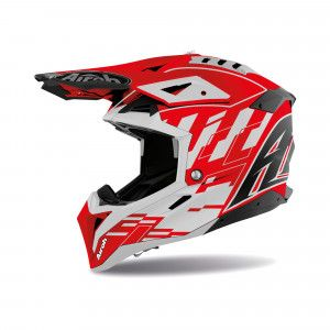 Airoh Aviator 3 Crosshelm Rampage Red