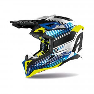Airoh Aviator 3 Crosshelm Wave Blue/Fluor Yellow